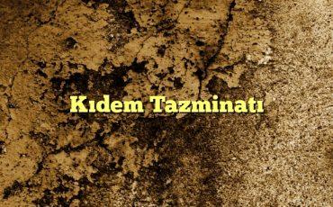 Kıdem Tazminatı1