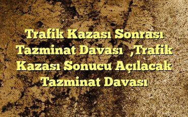 Trafik Kazası Sonrası Tazminat Davası Trafik Kazası Sonucu Açılacak Tazminat Davası